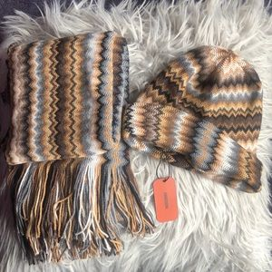 NEW Rare pattern Missoni Hat and Scarf